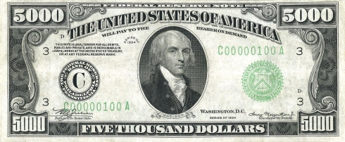 US_$5000_1934_Federal_Reserve_Note