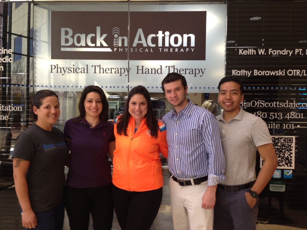 Me and the physical therapy team at Back in Action of Scottsdale